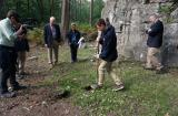 Governor David Hurley and school students collect soil at Scotts Post in Polygon Wood, Belgium.