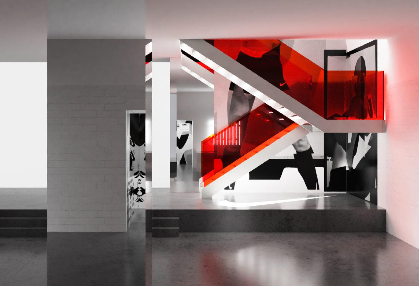 Space between nike melb central flagship renders 14