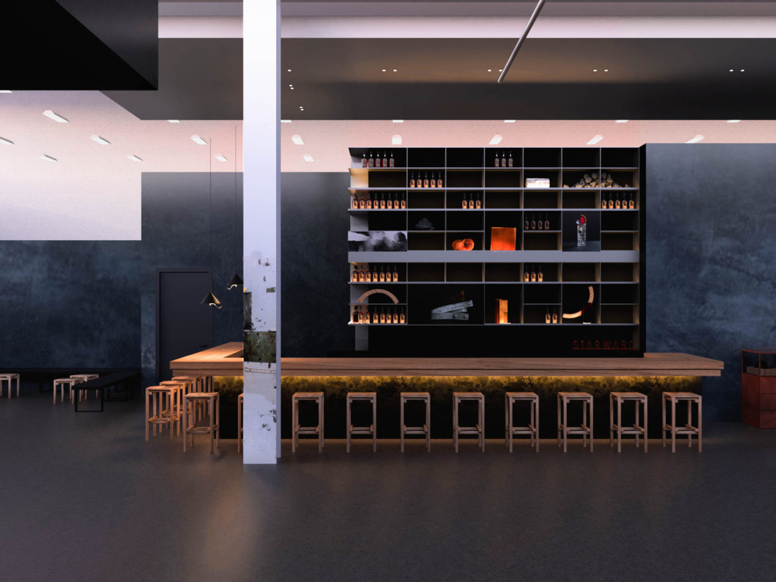 Space between starwood distillary refurb 03