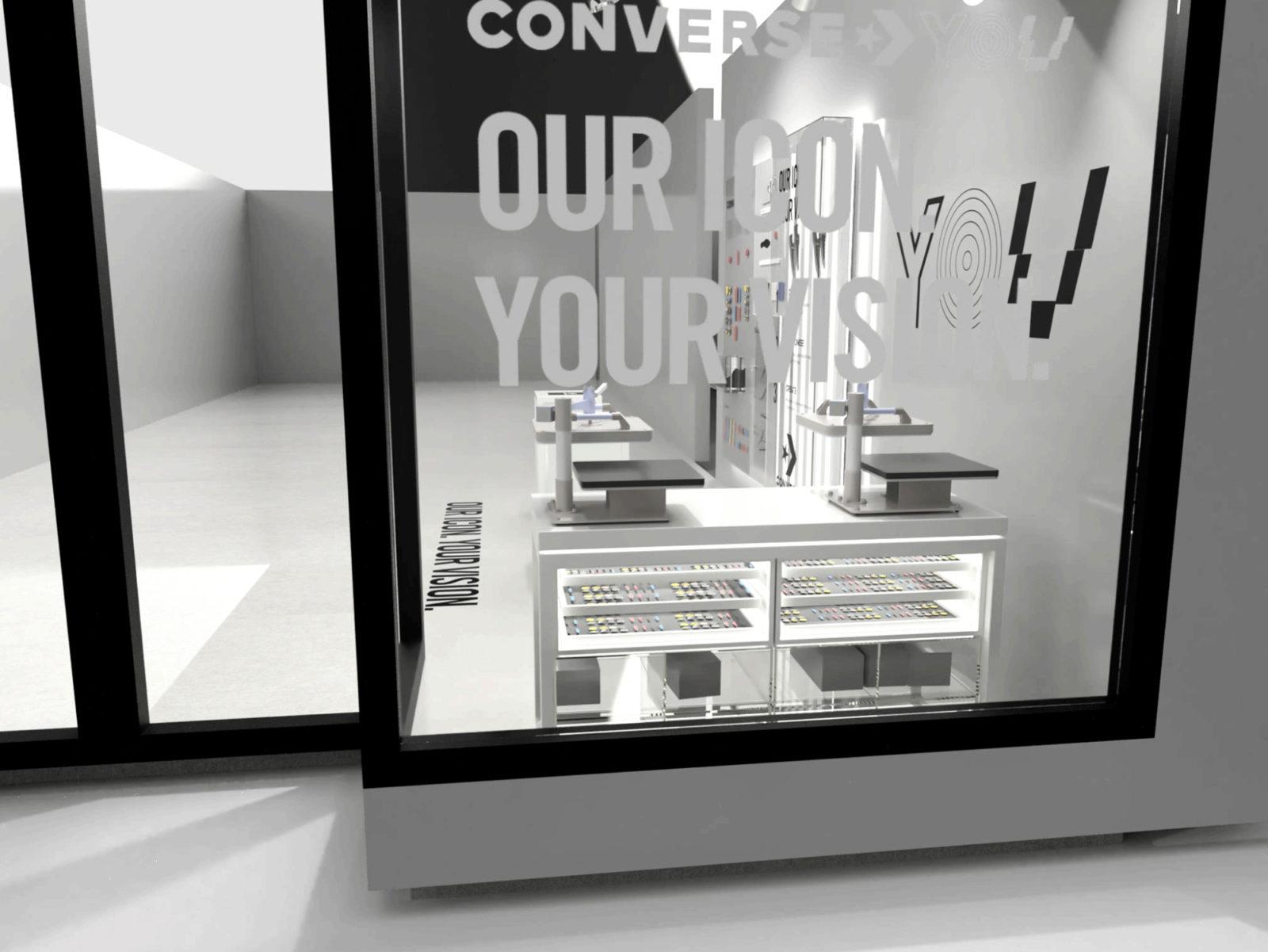 Web space between converse customisation render 6