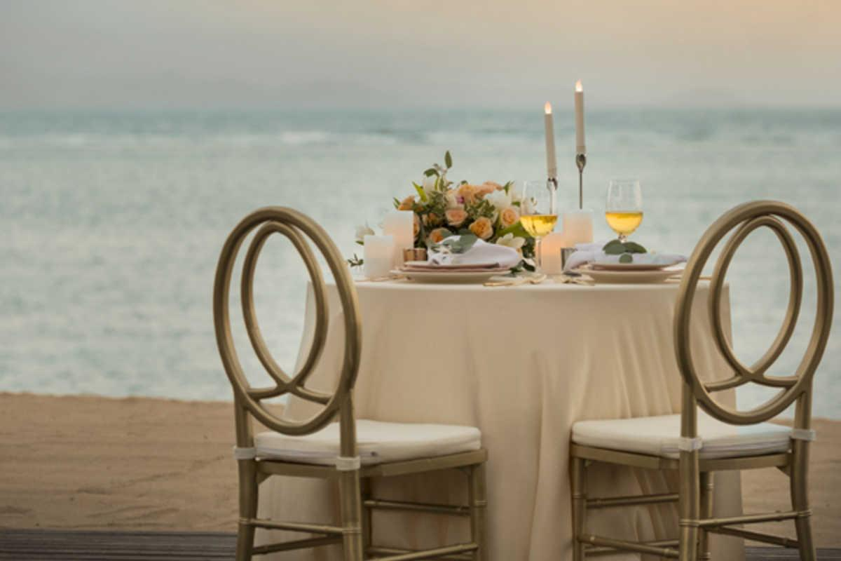 Romantic Candlelight Dinner At Sanur Beach
