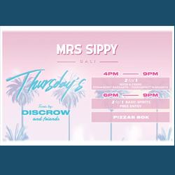 Mrs Sippy presents: Thursday's