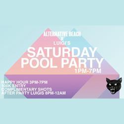 Alternative Beach X Luigi's Hot Pizza Saturday Pool Party