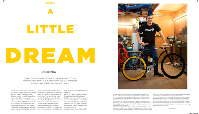 Bulmers Bike Build in Issue 12 of Treadlie Magazine