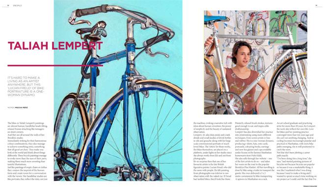 Treadlie Magazine Issue 7 June 2012 - Taliah Lempert