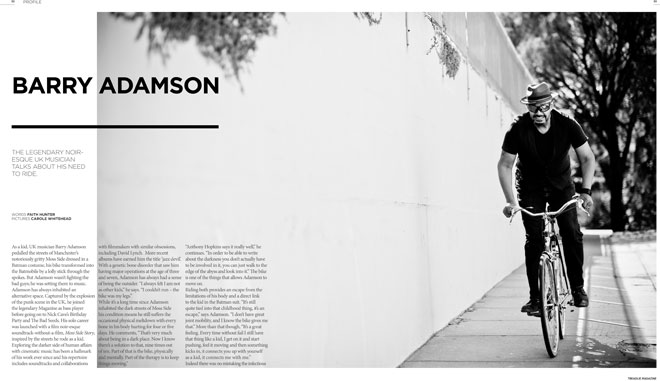 Treadlie Magazine Issue 7 June 2012 - Barry Adamson