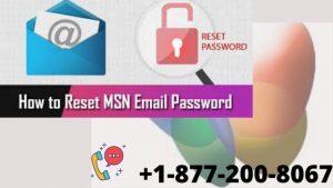 Reset MSN Password