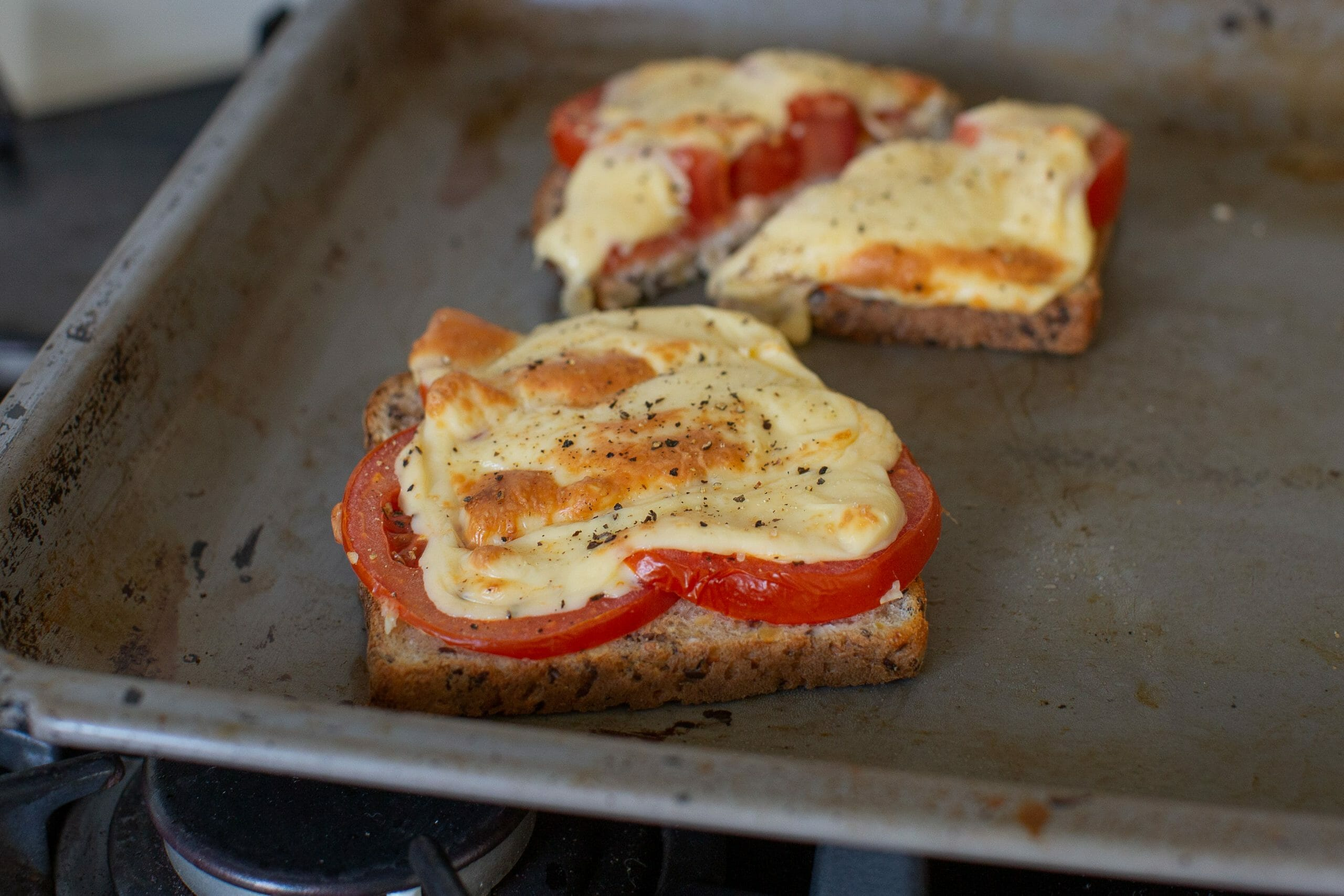 Air Fryer Cheese and Tomato Melt with Extra Cheese Recipe