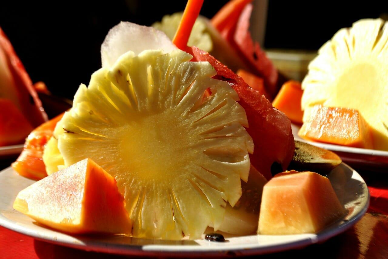 fruit water plate