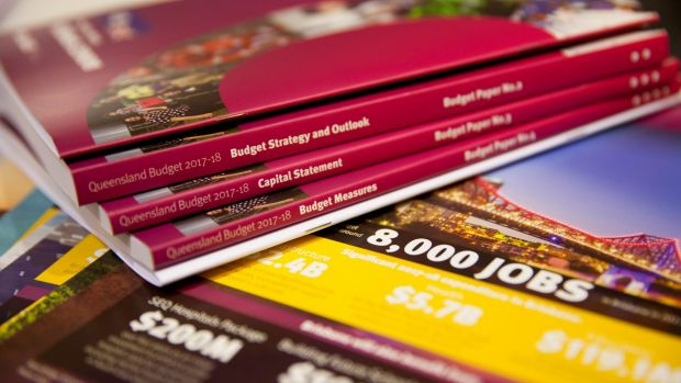 books about the 2017–18 QLD budget.
