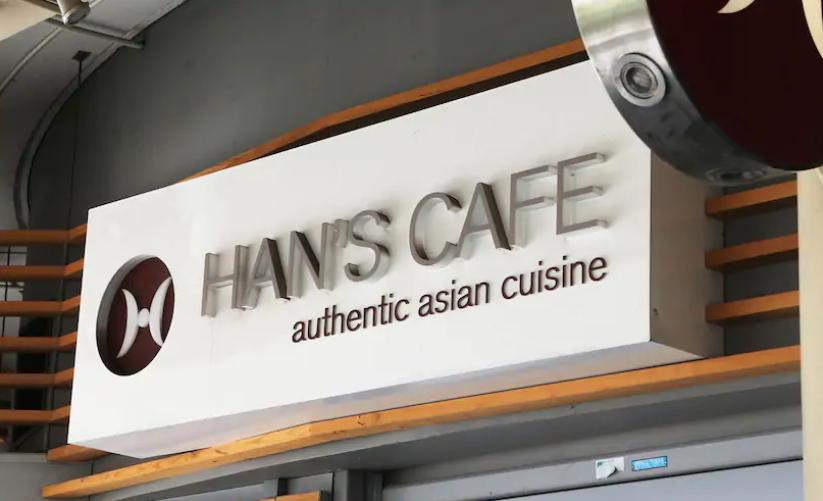 Han's CaféRockingham sign