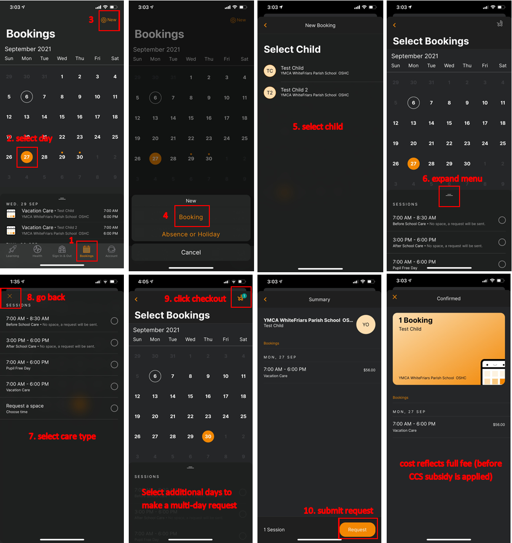 session booking xplor app