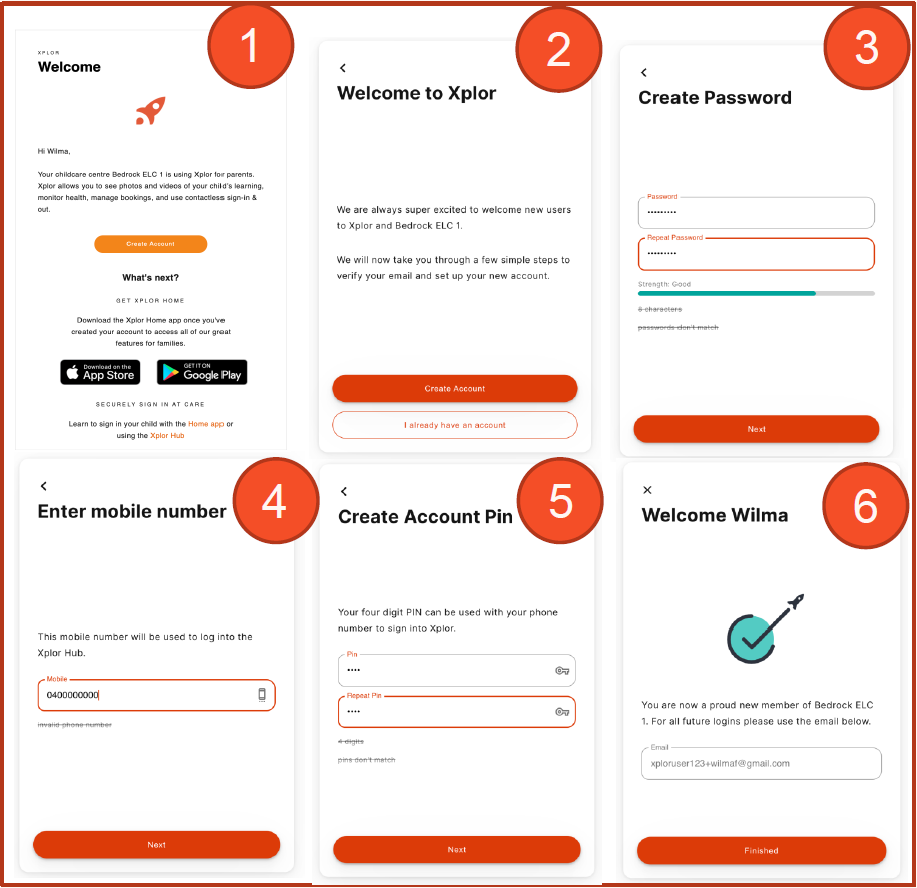Xplor create account