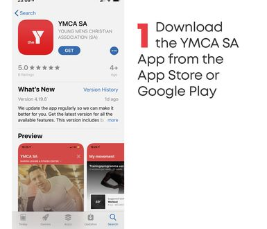 YMCA SA Reopening App tiles